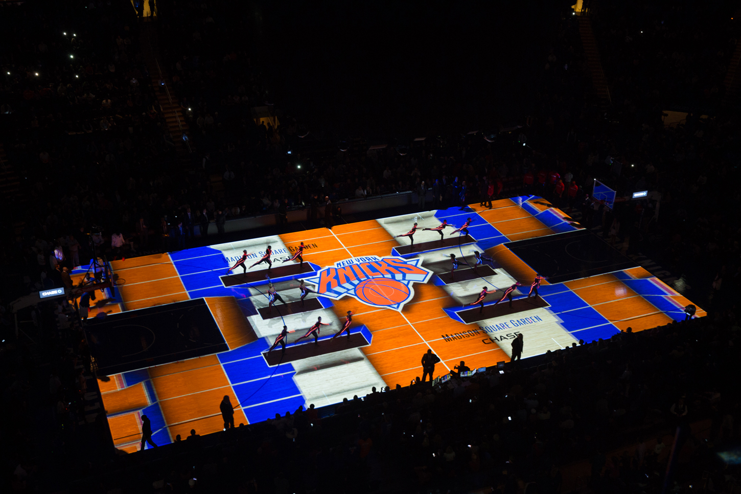 MSG Thrills Knicksu0027 Fans With Floor Projection Extravaganza