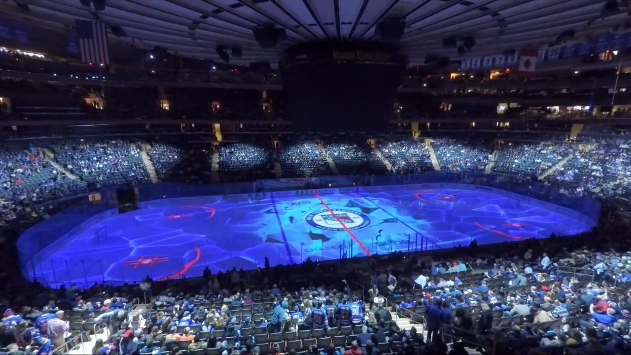 Msg Thrills Ny Rangers Fans With Floor Projection Extravaganza Worldstage